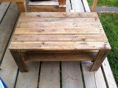 DIY Vintage Pallet Coffee Table with Storage | Pallet Furniture DIY