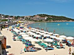 Baja Beach in Sardinia, Italy