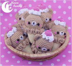 Crochet ice cream rabbit