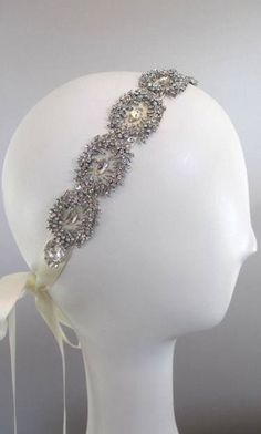 105 Crystal Victorian headband,Vintage Inspired Hair Accessory $150