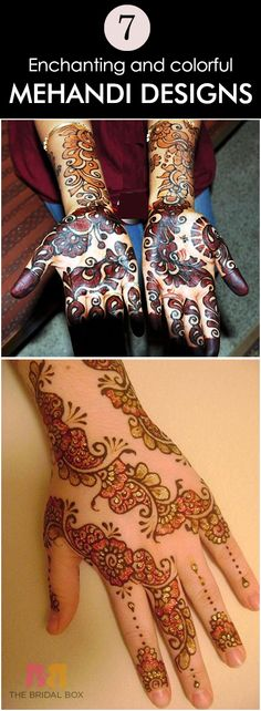 7 Enchanting And Colorful Mehndi Designs For You!