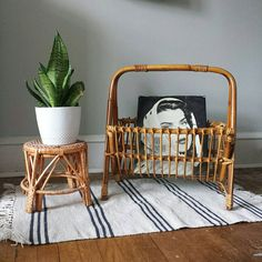 please buy this so I dont: vintage rattan magazine rack a boho interior design Interior Design Magazine, Vintage Interior Design, Bohemian Interior, Home Interior Design, Interior Decorating, Interior Ideas, Interior Paint, Decorating Games, Cafe Interior
