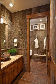 ♥♥♥ this rustic bathroom www.ideacasa.ro