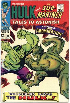 Tales to Astonish 91 Hulk Sub-Mariner silver age Marvel comics group Avengers Comics, Dc Comics, Archie Comics, Hq Marvel, Marvel Comic Books, Comic Books Art, Comic Art, Marvel Heroes, Silver Age Comics