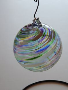 Hand Blown Multicolor Christmas Glass Ornament or by ToselandGlass, $22.00