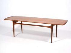 Teak Coffee Table by Tove & Edvard Kindt-Larsen | From a unique collection of antique and modern coffee and cocktail tables at https://www.1stdibs.com/furniture/tables/coffee-tables-cocktail-tables/