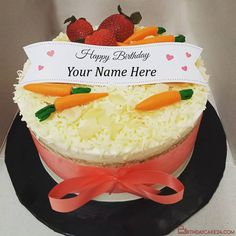 Carrot Birthday Wishes Cake With Name Online Birthday Wishes With Name, Birthday Wishes Cake, Happy Birthday, Funny Birthday Cakes, Cake Templates, Cake Name, Carrot Cake, Names, Desserts