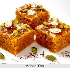 Mohan Thal is a sweet recipe made from roasted gram flour, ghee and other ingredients. for the recipe visit the page. #sweet #recipes #dessert