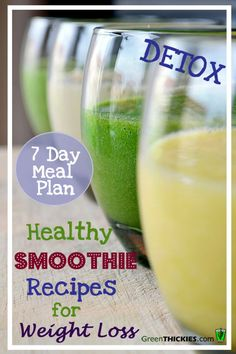 Healthy Smoothie Recipes for Weight Loss 7 Day Diet Detox detoxsmoothie &; Healthy Smoothie Recipes for Weight Loss 7 Day Diet Detox detoxsmoothie &; Best Smoothie, Smoothie Diet Plans, Smoothie Detox, Juice Smoothie, Smoothie Recipes, Smoothie King, Smoothie Ingredients, Protein Recipes, Smoothie Bowl