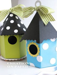 Creations on Paper: Bird House Box Tutorial