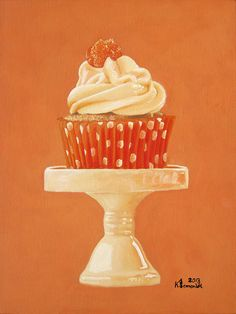 Display Of Orange Painting - Display Of Orange Fine Art Print Cupcake Painting, Cupcake Art, Fine Art Prints, Framed Prints, Canvas Prints, Orange Painting, Art Pages, Junk Food, Food Art