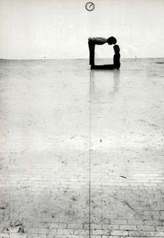 """♂ black & white 90 degree klaus rinke - """"Time-Space-Body and Action"""" Gallery L'Attico in Rome 1972"""