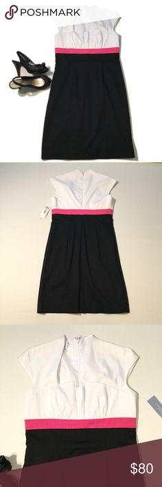 """🎁FREE SHIPPING London Times Dress Brand new with tag. Size 10P. 97% cotton 3% spandex. Bodice area has polyester inside lining. Bust approx 35"""" length approx 38"""".  To get free shipping this weekend, submit offer less shipping fee of $5.95 London Times Dresses"""