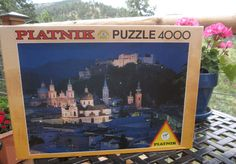 PIATNIK 4000pc jigsaw puzzle SALZBURG AT NIGHT #544231 NEW w/light box wear #Piatnik