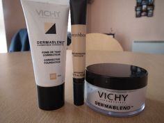 Vichy Dermablend Corrective Foundation, Concealer, and Setting Powder