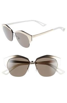 Dior+'Mirrors'+55mm+Cat+Eye+Sunglasses+available+at+#Nordstrom
