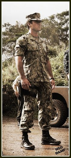 Lt. Commander Steve McGarrett in all his badger assuming-ness :))