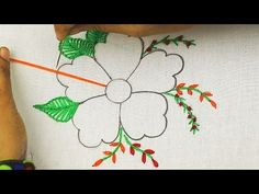 latest fantasy flower embroidery design * Bordado fantasía * modern hand embroidery flower designs - YouTube