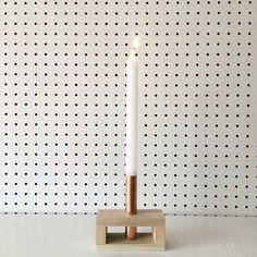 Reclaimed Wood and Copper Candle Holder | Mothers Day, Modern, Danish, Simple, Clean, Scandinavian Decor