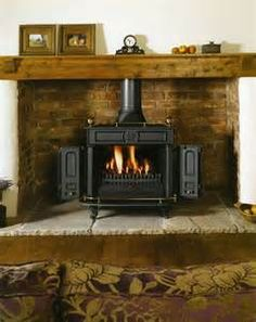 Wood Stove Mantel Ideas - Bing Images