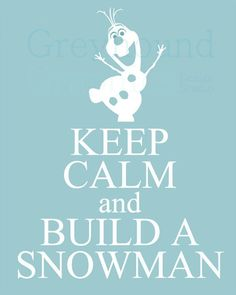 Disney& Frozen printable wall art Olaf by GreyhoundGraphics