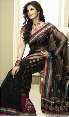 Black Saree - The Dream Wear for That Special Candle Light Dinner SOLD