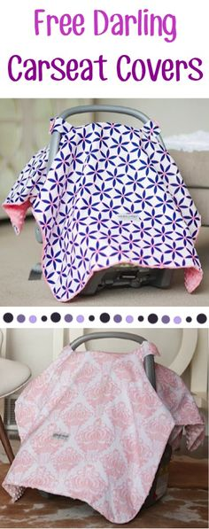 FREE Darling Carseat Covers! {just pay s/h} ~ these make the BEST Baby Shower gifts!!