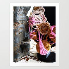 Ganesha and Romanian Point Lace Fine Art Photography Art Print by BaleaRaitzART - $33.28 Point Lace, Ganesha, Fine Art Photography, Ink, Art Prints, Art Impressions, Art Photography, Ganesh, India Ink