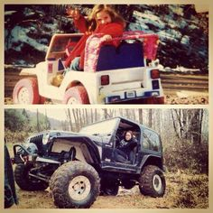 Once a Jeep Girl always a Jeep Girl!! My first car was indeed a barbie jeep <3