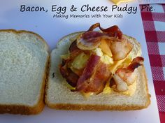Bacon, egg & Cheese breakfast for pie iron