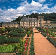 Château of Villandry, built in 1532 in the Loire Valley, France