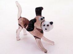Blown Glass Dog Animal Figurines Miniature Mini Dogs Little Glass Animals Murano Gift Blown Sculpture Art Collectible Artglass Lampwork