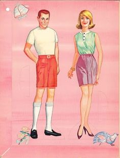 Bride and Groom Paper Dolls by Whitman 1963