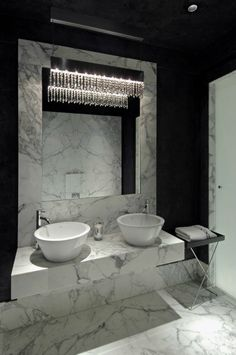 black-and-white-bathroom Michael Habachy-interior-design-photo. Interior Decoration. Inspiration