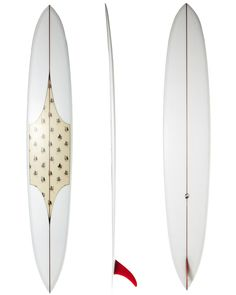 THOMAS SURFBOARDS POSTIE SURFBOARD - VOLAN WITH INLAY AND PINLINES