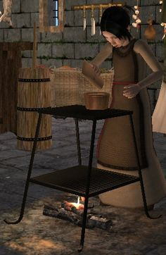 Now your Medieval children can learn to cook like mommy with their own little stove.