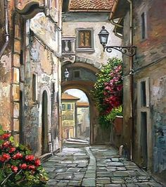 40 Artístico Canvas Painting Ideas - Places to visit in the World Watercolor Landscape, Landscape Art, Landscape Paintings, Watercolor Paintings, Urban Sketching, Art Pictures, Canvas Pictures, Painting Inspiration, Painting & Drawing