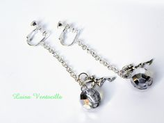 Romantische lange Ohrclips von Luisa Ventocilla Shop auf DaWanda.com