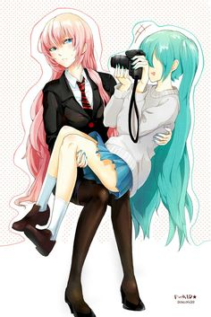 Negitoro, Cute, Formal, Miku x Luka, Vocaloid, Picture (ART IS NOT MINE)