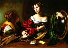 Michelangelo Caravaggio, Martha and Mary Magdalene (1598) on ArtStack #caravaggio #art