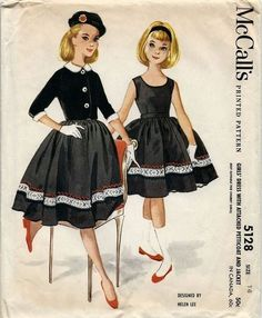 M5128 by Helen Lee © 1959.  Featured as a dress for Betsy McCall in her October 1959 paper doll.
