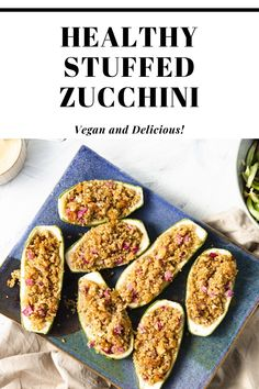 This Daniel Fast friendly meal is not only delicious and filling, but it's a super easy meal to make. #DanielFast Easy Dinner Recipes, Breakfast Recipes, Easy Meals, Healthy Stuffed Zucchini, Daniel Fast Recipes, Easy Food To Make, How To Cook Quinoa, Super Easy, Vegan Recipes