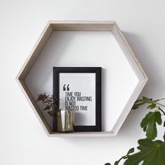 Scandinavian style #jysk Interior Inspiration, Room Inspiration, Interior And Exterior, Interior Design, Hexagon Shelves, Kitchen Living, Scandinavian Style, Floating Shelves, Sweet Home