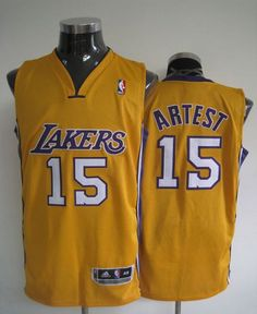f6d6fc3da Revolution 30 Lakers  15 Artest Yellow Stitched NBA Jersey