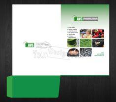 Presentation Folder for AVS from YourDesignPick. Folder Design, Presentation Folder, Branding, Brand Management, Identity Branding