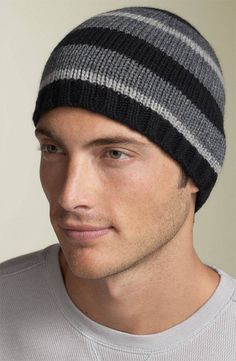 On the hunt for a manly man hat for my manly husbands manly head mens knit hat good stripe pattern shane wants this in black red gray dt1010fo