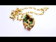 ♦ Tutorial: White flowers on twisted bough polymer clay necklace - YouTube