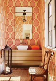 Exotic Bathroom by Suzanne Kasler Interiors and William T. Baker & Associates Ltd. in Atlanta, Georgia