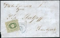 Svishtov – Ziştovi – Sistov: 1869 Entire from Sistov to Rustchuk bearing single franking 10 kr. green tied by single circle date stamp in blue (Tchilinghirian reverse with sender's label Ottoman Empire, Fig, Label, Auction, Stamp, Personalized Items, Green, Blue, Stamps