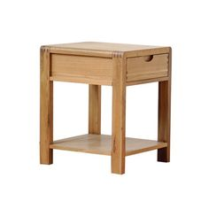 Bosco lamp table. Small drawer for storage. Display shelf below. Solid Oak with clear matt lacquer. Co-ordinating furniture in the range.